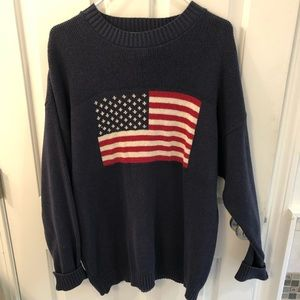 Other - US flag sweater, Men's XL, 100% cotton, navy.
